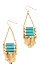 Adia Kibur Maya Earrings Turquoise White