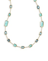 18K Rock Candy Station Necklace In Waterfall 34.5' Blue Ippolita
