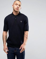 Fred Perry Reissues Polo Mesh Knit In Navy Navy