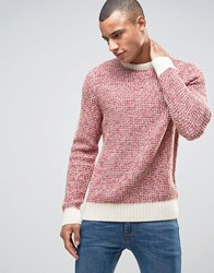 New Look Jumper In Red With Contrast Hem Bright Red
