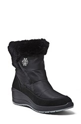 Women's Blondo 'Teresa' Waterproof Winter Boot Black Nylon Leather