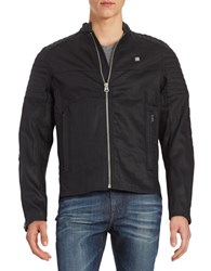 G Star Ribbed Moto Jacket Black