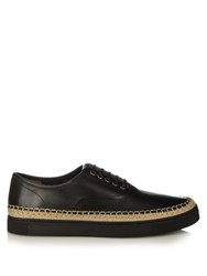 Alexander Wang Asher Low Top Leather Trainers Black
