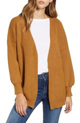 Dreamers By Debut Balloon Sleeve Cardigan Camel