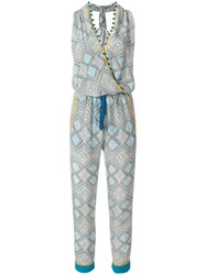 Talitha Maghreb Print Jumpsuit Blue