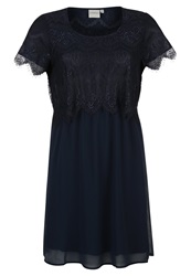 Junarose Jrjenny Cocktail Dress Party Dress Black Iris Dark Blue