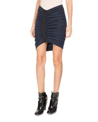 Atlein Ruched Front Jersey Miniskirt Blue