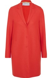 Harris Wharf London Cocoon Wool Felt Coat Papaya