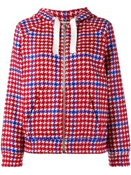 Jour Ne Zipped Hooded Cardigan Red