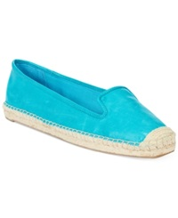 Nine West Beachinit Espadrille Flats Women's Shoes Clearly Aqua