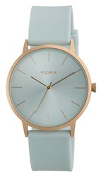 Pilgrim Minimalistic Gold Plated And Green Watch Green