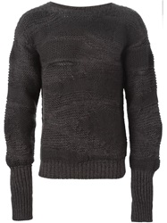 Isabel Benenato Chunky Knit Sweater Grey