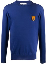 Moschino Teddy Bear Intarsia Crew Neck Jumper 60