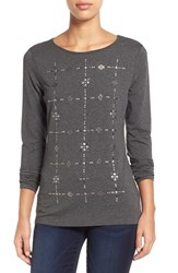 Women's Vince Camuto Embellished Long Sleeve Top Graphite Heather