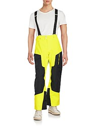 Spyder Swytch Athletic Wide Leg Suspender Pants Yellow Black