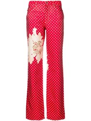 Gianfranco Ferre Vintage 1990'S Polka Dot Trousers Red