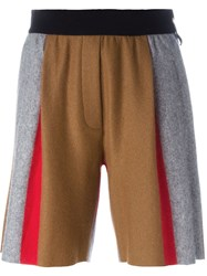 Forte Forte Panelled Shorts Brown