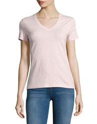 Lord And Taylor Petite V Neck Tee Pink