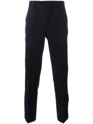 Maison Martin Margiela Pinstripe Tailored Trousers Black