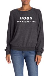 Wildfox Couture Dogs Are People Too Sweatshirt Clean Black