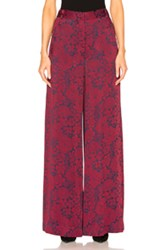 Erdem Birte Trousers In Floral Red Floral Red