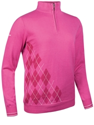 Glenmuir Ludivine Zip Neck Sweater Hot Pink