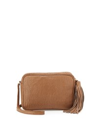 Lauren Merkin Mega Meg Snake Embossed Crossbody Bag Mushroom