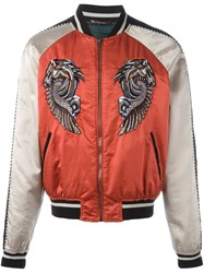 Roberto Cavalli Embroidered Pegasus Bomber Jacket Multicolour