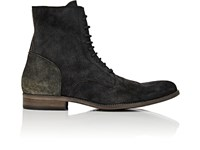 Buttero Kebro Reverse Leather Boots Gray