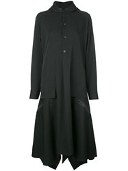Yohji Yamamoto Hooded Shirt Dress Black