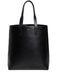 Dolce And Gabbana Leather Tote W Logo Detail Black
