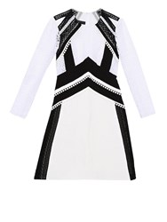 Burberry Contrasting Patchwork Lace Dress