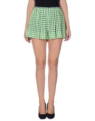 Thakoon Mini Skirts Light Green