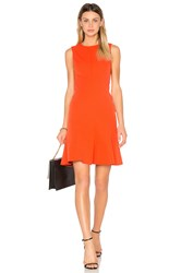 Derek Lam Fit And Flare Dress Coral