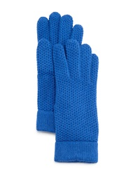 Portolano Cashmere Honeycomb Gloves Blue Bell