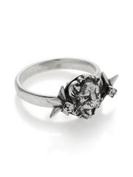 Anton Heunis Dainty Lion Head Ring Silver Plated