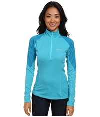 Marmot Thermalclime Pro L S 1 2 Zip Sea Breeze Aqua Blue Women's Sweatshirt