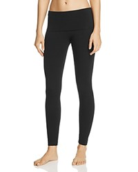 Hard Tail Foldover Leggings Black