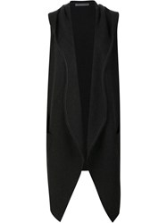 Denis Colomb Hooded Wrap Gilet Black