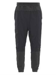 Haider Ackermann Bi Colour Jersey And Twill Track Pants