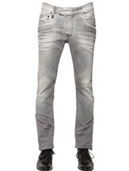 Balmain 15.5Cm Faded Effect Stretch Denim Jeans