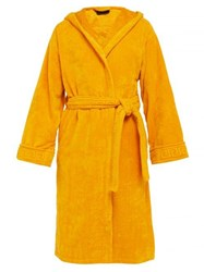 Versace Medusa Cotton Terry Towelling Robe Gold