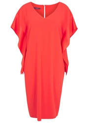 Laurel Orange Satin And Crepe Dress
