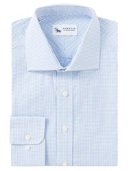 Chester By Chester Barrie Micro Check Tailored Fit Shirt Blue White
