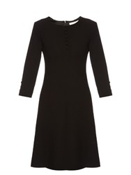 Goat Carlotta Button Up Double Wool Crepe Dress Black