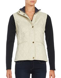 Barbour Liddesdale Quilted Vest Ivory