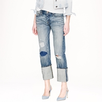 J.Crew Point Sur X Rocker Boyfriend Jean In Destroyed Klutey Wash