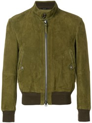Tom Ford Suede Bomber Jacket Green