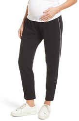 Isabella Oliver Maxine Contrast Maternity Pants Caviar Black