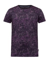 Ted Baker Men's Crafter Printed Cotton T Shirt Purple